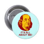 Benjamin Franklin Pinback Button