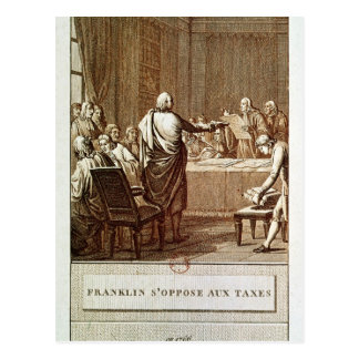 Benjamin Franklin Presenting his Opposition Postcard