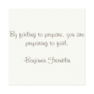 Benjamin Franklin Quote Canvas Print
