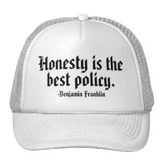 Benjamin Franklin Quote Trucker Hat