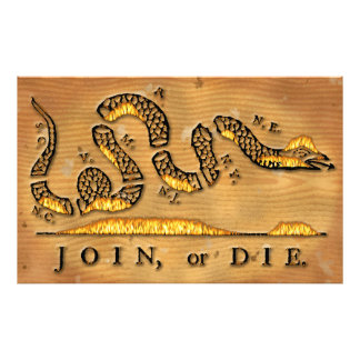 Benjamin Franklin s Join Or Die Political Cartoon Photograph