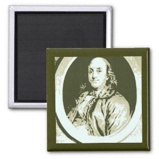 Benjamin Franklin Square Magnet
