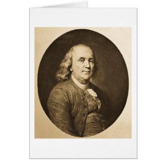 Benjamin Franklin - Vintage Magic Lantern Slide Card