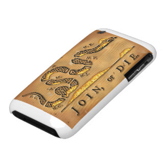 Benjamin Franklin's Join Or Die Political Cartoon Case-Mate iPhone 3 Cases