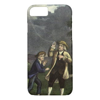 Benjamin Franklin's Kite and Lightning Experiment iPhone 7 Case
