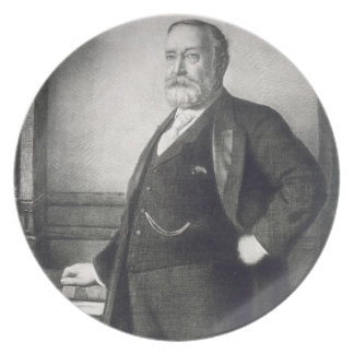 Benjamin Harrison (1833-1901), 23rd President of t Party Plates