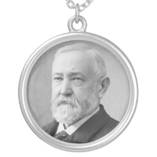 Benjamin Harrison 23rd President Round Pendant Necklace
