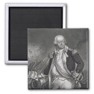 Benjamin Lincoln (1733-1810) (engraving) Square Magnet