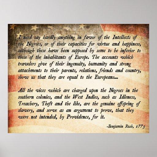 Benjamin Rush Quote Print