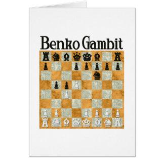Benko Gambit Greeting Card