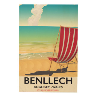Benllech, Anglesey Wales vintage travel poster