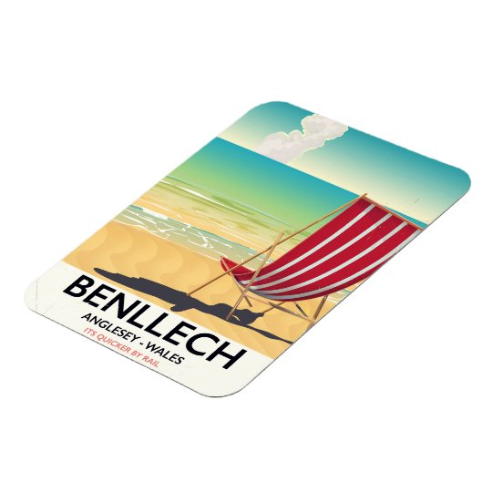 Benllech, Anglesey Wales vintage travel poster Magnet
