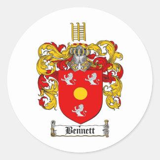 BENNETT FAMILY CREST -  BENNETT COAT OF ARMS STICKERS