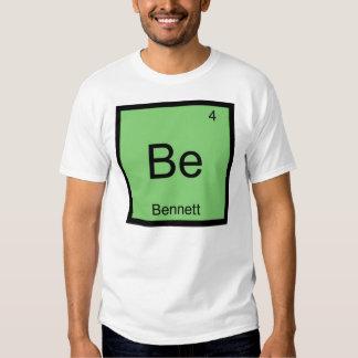 Bennett Name Chemistry Element Periodic Table T-shirt