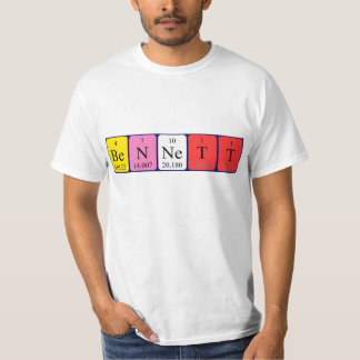 Bennett periodic table name shirt