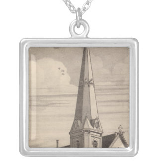 Bennington Vermont Silver Plated Necklace