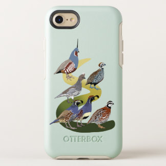 BennuBirdy Quail of North America (no text) OtterBox Symmetry iPhone 8/7 Case