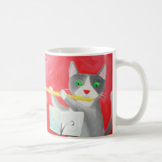 Benny the flute player cat coffee mug