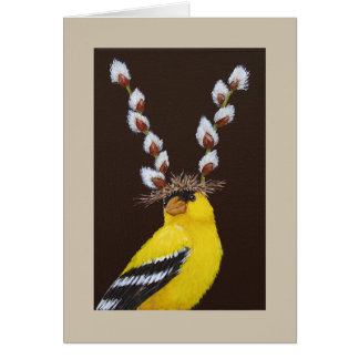 Benny the goldfinch card