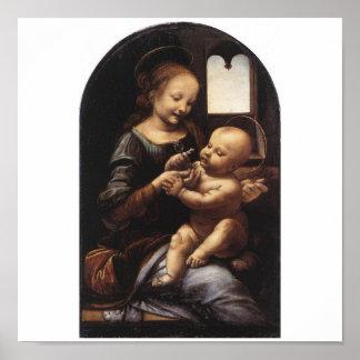 Benois Madonna by Leonardo Da Vinci circa 1478 Poster