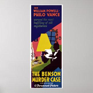 Benson Murder Case Poster