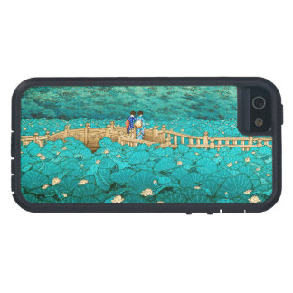 Benten Pond at Shiba Kawase Hasui japanese scenery iPhone 5 Covers