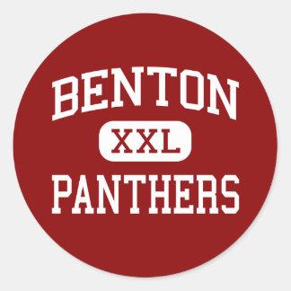Benton - Panthers - High School - Benton Arkansas Classic Round Sticker
