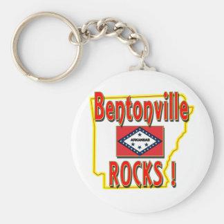 Bentonville Rocks ! (red) Key Ring
