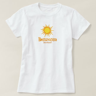 Benzonia, Michigan - Ladies Baby Doll (Fitted) T-Shirt