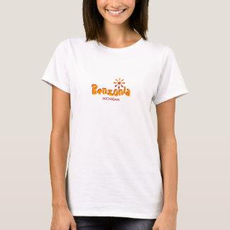 Benzonia , Michigan - with Sun Icon T-Shirt