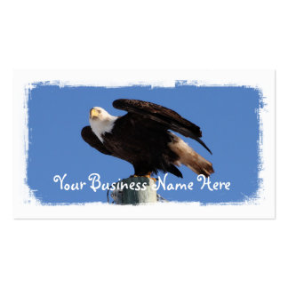 BEOUP Bald Eagle on Utility Pole Business Card Templates