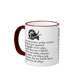 Beowulf in the Meadhall Ringer Mug