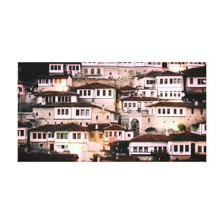 Berati Albania Ottoman Homes Canvas Print