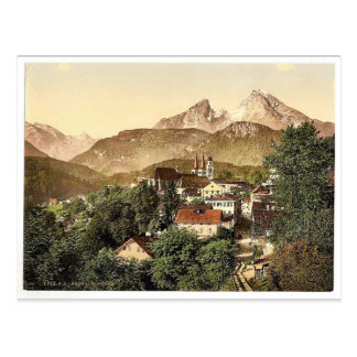 Berchtesgaden with Waltzmann, Upper Bavaria, Germa Postcard