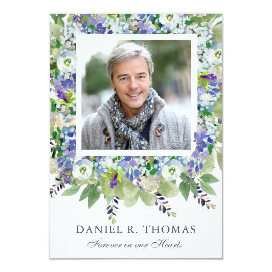 Bereavement Card | Purple Florals