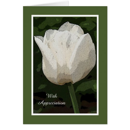 Bereavement Sympathy Thank You Card -- Tulip