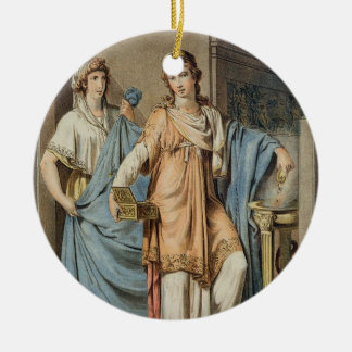 Berenice, costume for 'Berenice' by Jean Racine, f Christmas Ornament