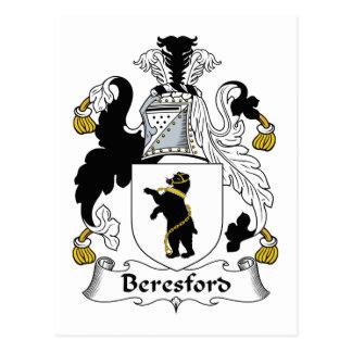 Beresford Family Crest Postcard