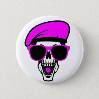 Beret Skull 6 Cm Round Badge