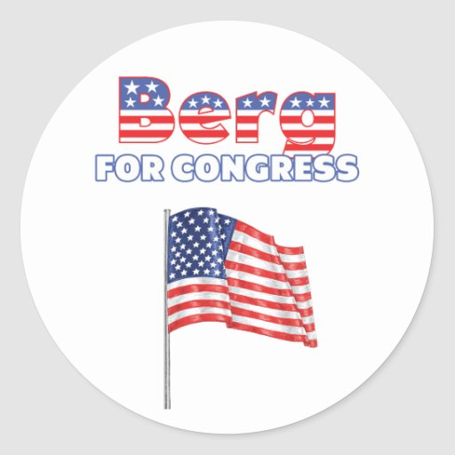 Berg for Congress Patriotic American Flag Sticker