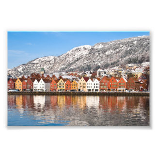 Bergen city photographic print