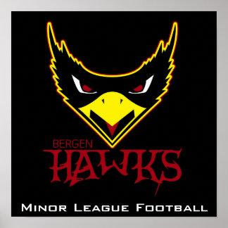 Bergen Hawks Black ML Poster