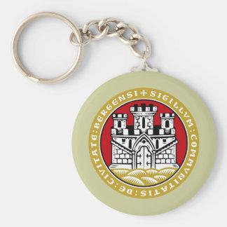 Bergen komm, Norway Basic Round Button Key Ring