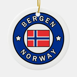Bergen Norway Christmas Ornament