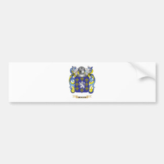 Berger Coat of Arms (Family Crest) Bumper Sticker