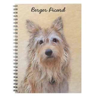 Berger Picard Painting - Cute Original Dog Art Notebook
