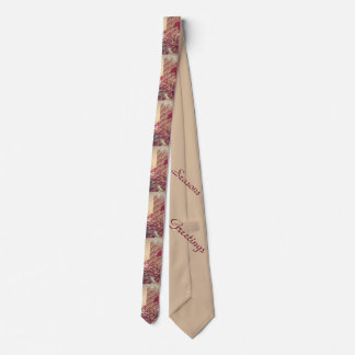 Beribboned Holiday Candle Tie