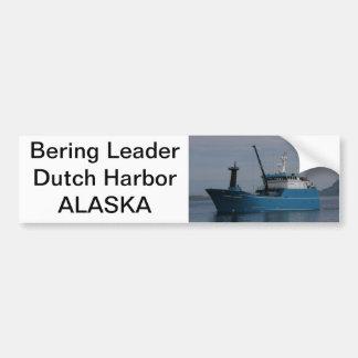 Bering Leader, Longliner in Dutch Harbor, AK Bumper Sticker