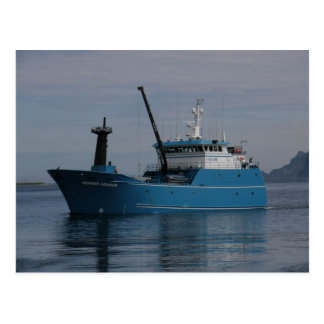 Bering Leader, Longliner in Dutch Harbor, AK Postcard