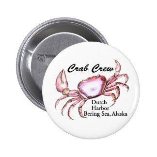 Bering Sea Alaska Crab Fishing 6 Cm Round Badge